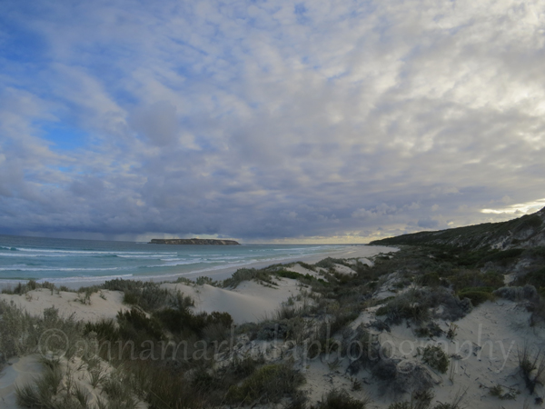 Coffin Bay landscape clouds beach ocean