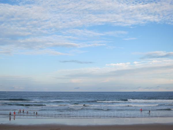 landscape ocean Coolum Beach clouds