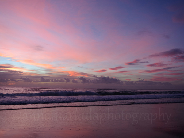 pink sunrise ocean Burleigh Gold Coast
