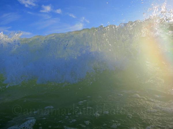 wave breaking rainbow