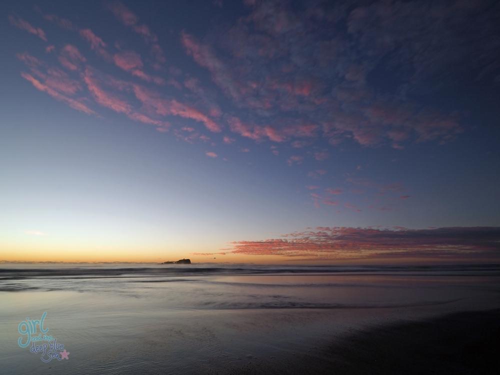 pink sunrise landscape Mudjimba Beach