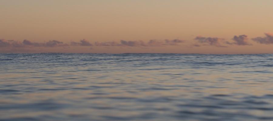 pastel dawn ocean and sky